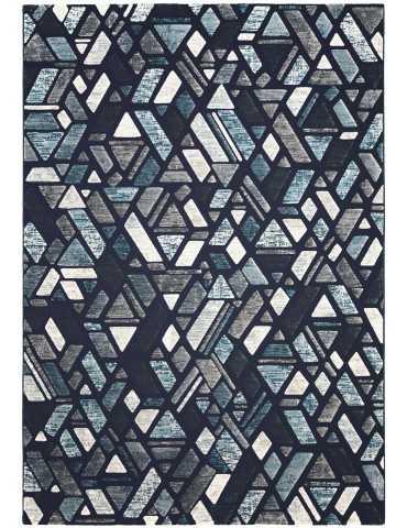 Pianta del tappeto con fantasia triangolare blu