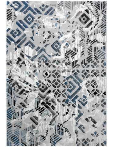 Pianta tappeto moderno grigio celeste