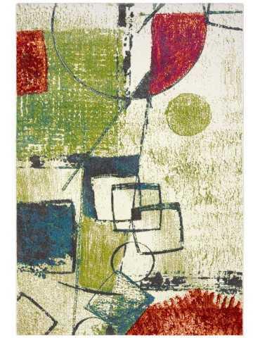 Pianta del tappeto moderno in tessitura frisee